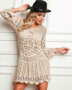 Patron vestido mujer crochet