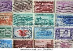 Image Detail for - Vintage Us Postage Stamps Collection Used And Franked Stock Photo ...