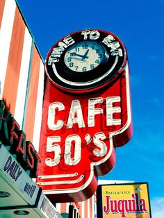 Vintage neon cafe sign, looks like the one on van nuys blvd, ca