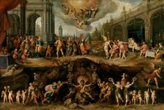Frans Francken the Younger (1581-1642) —Mankind's Eternal Dilemma – The Choice Between Virtue and Vice, 1633  :The Museum of Fine Arts, Boston, Massachusetts. USA     (3000×2028)