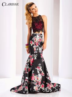 abf961cf85 Clarisse Two Piece Print and Lace Dress 3209