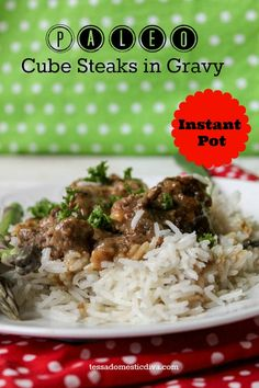 Instant Pot Cubed Steak And Gravy The Country Cook Main . Easy One Dish Healthy Instant Pot Recipes Amee's Savory Dish. Instant Pot Beef Stroganoff Tested By Amy Jacky. Home and Family Cubed Beef Recipes, Paleo Recipes Easy, Steak Recipes, Whole 30 Recipes, Real Food Recipes, Free Recipes, Paleo Meals, Healthy Meals, Healthy Eating