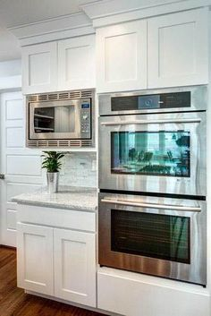 3 Creative And Inexpensive Tricks: Old Kitchen Remodel Annie Sloan kitchen remodel layout breakfast bars.Kitchen Remodel With Island 2018 kitchen remodel renovation.Kitchen Remodel Tips Simple. Double Oven Kitchen, Kitchen Oven, New Kitchen Cabinets, Kitchen Redo, Kitchen Pantry, Kitchen Appliances, Kitchen Ideas, Kitchens With Double Ovens, White Appliances