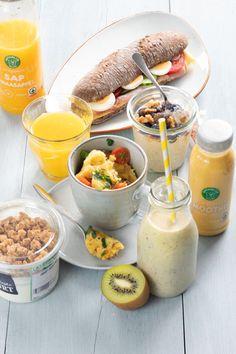 5 x snelle ontbijtjes in 5 minuten, ook voor onderweg! - Leuke recepten Muesli, Overnight Oats, Bon Appetit, Foodies, Breakfast Recipes, Brunch, Food And Drink, Cheese, Healthy