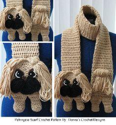 Pekingese Scarf Crochet Pattern