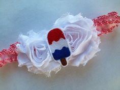 Popsicle Hair Bow  4th of July Headband  by CuteAsaButtonbyAmy, $9.75