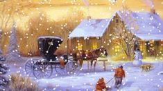 Vánoční písničky -  Bílé vánoce, Purpura, Padá sníh, Rolničky Thomas Kinkade Christmas, Grinch Christmas, Christmas Scenes, Christmas Costumes, Christmas Time, Christmas Cards, Christmas Carols Songs, Christmas Music, Vintage Christmas