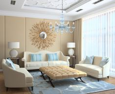 Charmant Chandelier Living Room Modern Living Room