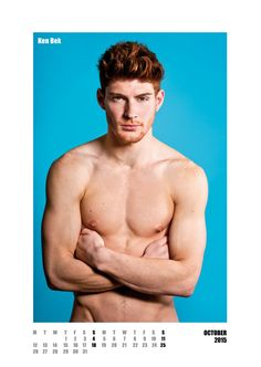 #redhot #redheads Mr October - Capture the spirit of the RED HOT exhibitions and tour in a calendar for anyone who appreciates hot men with red hair. £20