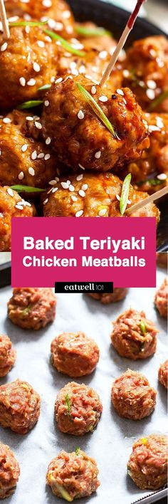 Baked Chicken Meatballs with Teriyaki Sauce — Eatwell101