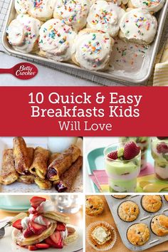 With these easy breakfasts kids adore, you'll all start the day with smiles. With these easy breakfasts kids adore, you'll all start the day with smiles. Brunch Recipes, Baby Food Recipes, Snack Recipes, Cooking Recipes, Healthy Cooking, What's For Breakfast, Breakfast Dishes, Breakfast Recipes, School Breakfast