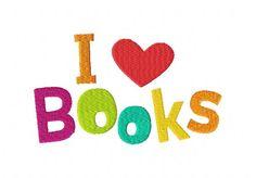 I love Books Machine Embroidery Design
