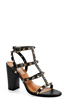 Valentino 'Rockstud' T-Strap Sandal (Women) available at #Nordstrom