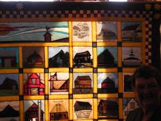 Top right of the Indiana Bicentennial Barn Quilt.  Barns are in alphabetical order according to counties.