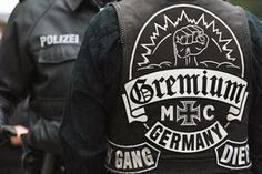 A less kosher take on blacklettering in relation to biker culture deals with the Germanic origins and the white-pride associated with the early years of the Hells Angels.
