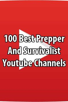 If you're a prepper and there's nothing on TV, subscribe to these channels and your Youtube feed will fill up with hours of great content everyday! via @urbanalan
