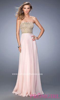 Strapless Floor Length La Femme Dress Style: LF-22674