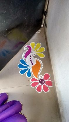 Rangoli designs diwali - 51 Diwali Rangoli Designs Simple and Beautiful – Rangoli designs diwali Easy Rangoli Designs Diwali, Rangoli Simple, Rangoli Designs Latest, Simple Rangoli Designs Images, Rangoli Designs Flower, Free Hand Rangoli Design, Rangoli Border Designs, Small Rangoli Design, Rangoli Ideas
