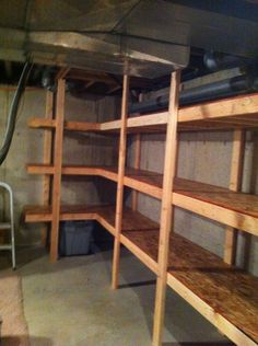 storage shelf building ideas