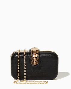 Chevron Clasp Minaudière Clutch | Evening Bags - RSVP Special Occasion | charming charlie