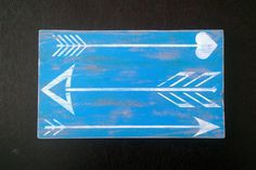 Arrow sign Bohemian wood wall plaque arrows hand by Moodsigns18