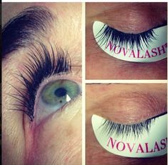 Novalash eyelash extensions done by Elana