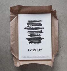 Branding and poster design for Gustav Johanssons short film 'Everyday' by Albin Holmqvist Graphisches Design, Buch Design, Layout Design, Print Design, Print Layout, Dashboard Design, Typography Inspiration, Graphic Design Inspiration, Decor Inspiration