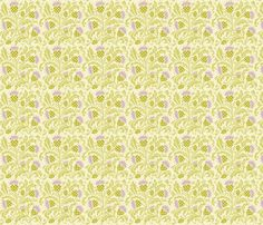 thistle fabric by cindy_lindgren on Spoonflower - custom fabric. This designer has a lot of fun arts and crafts influenced floral prints.