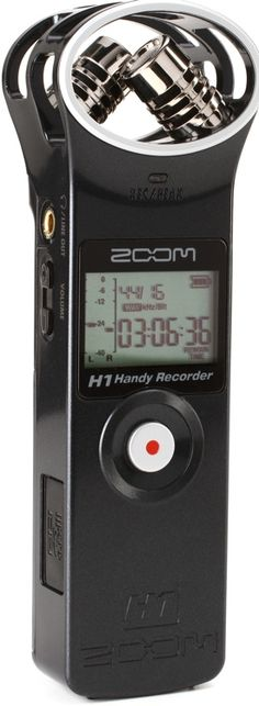 Pocket-sized Handheld microSD Recorder with Built-in XY Stereo Mic Capsules