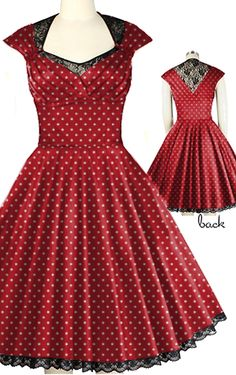 Retro Dress with Lace Neckline by Candy Culture and Amber Middaugh