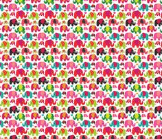 Cute retro kids elephant pattern fabric fabric by littlesmilemakers on Spoonflower - custom fabric - wallpaper and wrapping paper by Maaike Boot