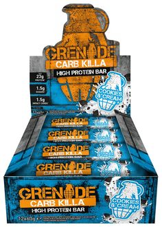 Buy Grenade Carb Killa Protein Bars - Cookies & Cream at Argos. Thousands of products for same day delivery or fast store collection. White Chocolate Mocha, White Chocolate Cookies, Chocolate Crunch, Chocolate Coating, High Protein Bars, High Protein Snacks, Stevia, Fat Burning Cream, Whole Milk Powder