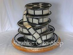 Film Industry couples wedding Cake ~ all edible CAKE ART!