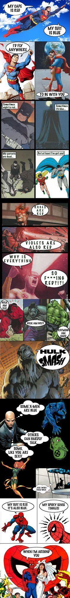 Superhero Valentines Cards