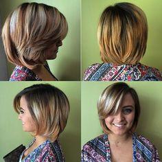 bob en capas de espesor medio para el cabello