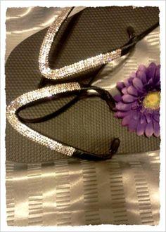 Crystal Flip Flops