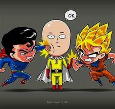 One Punch Man Manga, One Punch Man Funny, Saitama One Punch Man, Anime Meme, Anime Kawaii, Anime Chibi, Genos Wallpaper, Dragon Ball Z Shirt, Fanarts Anime