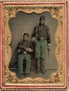 Vintage & Antique (pre-1940) Militaria Friendly 1860s Civil War Soldier Tintype Photograph Quarter Plate Armed Union Soldier