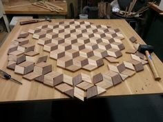 Diy Furniture Plans Woodworking - New ideas Diy Furniture Plans Wood Projects, Easy Woodworking Projects, Woodworking Techniques, Wood Furniture, Woodworking Wood, Wooden Wall Art, Wood Art, Intarsia Holz, Wood Mosaic