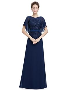 Ever Pretty Womens Unique Sleeve Elegant Lace Neckline Ev...