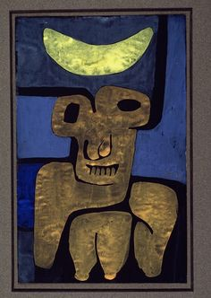 Moon Of The Barbarians; Luna Der Barbaren. Paul Klee (1879-1940). Gouache On Paper, 1939.