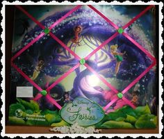 DISNEY STORE Peter Pan's Tinkerbell Fairies French Art Message Memo Board-NEW! #GlassArtLamp