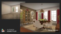 """Check out my #interiordesign """"Dining With Charm"""" from #Homestyler http://autode.sk/1iPjfW2"""