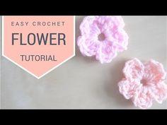 CROCHET: Simple Flower tutorial | Bella Coco - YouTube