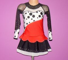 Cruela De Ville Inspired Figure Skating Dress. Performance Dress. Figure Skating Competition Dress. SIZES 2T - Girls 12