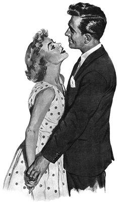 A tender moment ~ Edwin Phillips, ca. 1950s