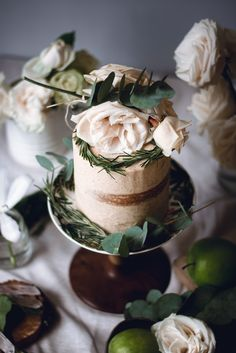 Soft Gingerbread Cake with caramelized apples and brown butter frosting