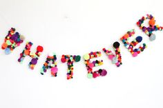 WHATEVER party banner by napkinitems on Etsy, $60.00