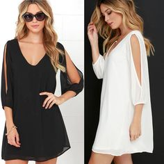 Fashion Women Summer Casual Long Sleeve Evening Party Cocktail Short Mini Dress #Unbranded #Sundress