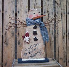 Snowman Angel Wood Craft Pattern for Winter by KaylasKornerDesigns, $7.50